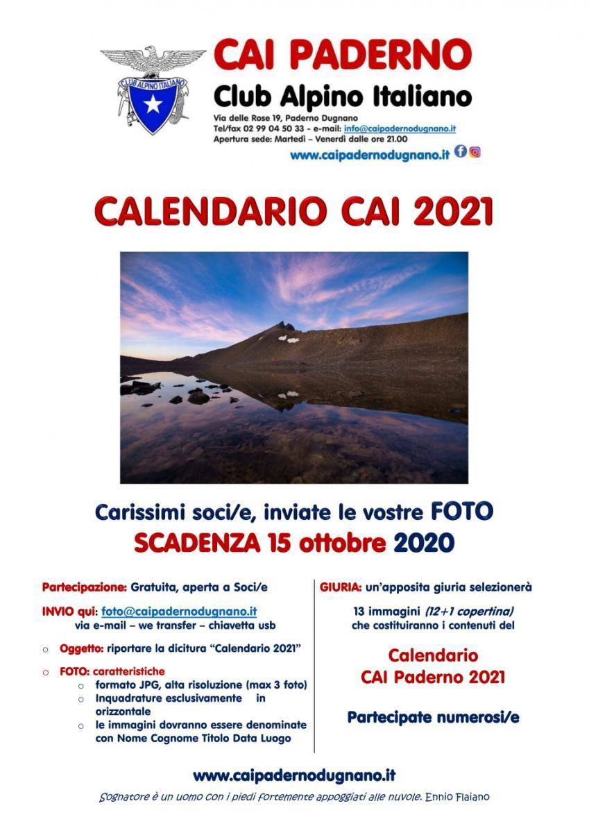 Calendario 2021. Manda le tue foto. – CAI Paderno Dugnano